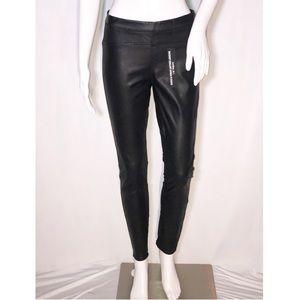 Blank NYC Black Vegan Leather &Suede Leggings Sz27